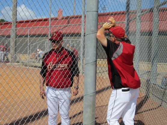 Astros manager Brad Mills & pitching coach Doug Brocail.