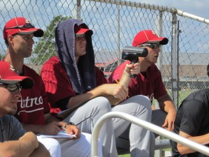 Lexington hitting coach Josh Bonifay, former 'Cats Bobby Doran and Ryan Cole