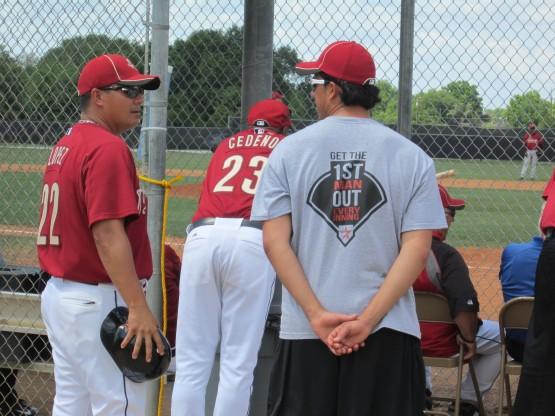 Greeneville manager Omar Lopez & Sergio Perez.