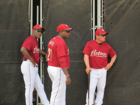 """Minor League Managers"" Ivan DeJesus (Lexington), Rodney Linares (Lancaster), Stubby Clapp (Tri-City)"