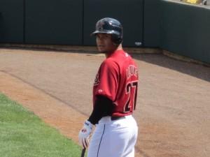 Jose Altuve on-deck at the major league game