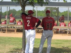Minor league field coordinator Paul Runge and special assistant Dan Radison.