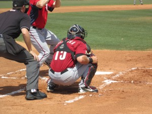 Mike Kvasnicka back behind the plate