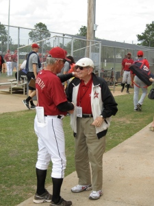Hall of Fame broadcaster Milo Hamilton pays a visit to minor league camp