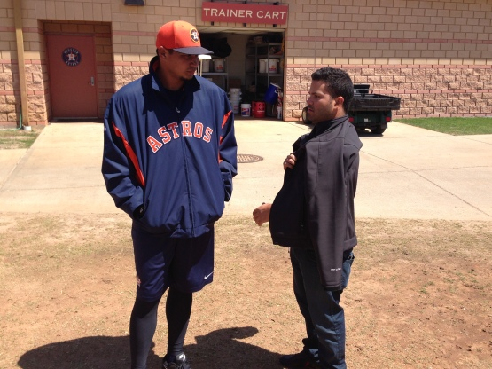 Former 'Cats, David Martinez and Jose Altuve.