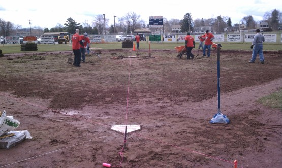 Old sod all removed from Hudson Valley Little League in Ravena.