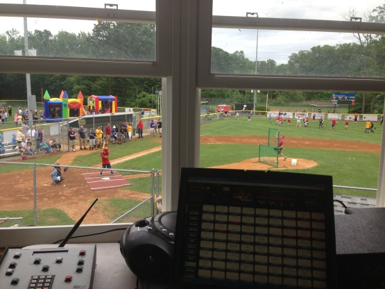 "View from the ""press box"" during the pregame home run derby!"