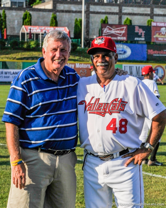 Manager Ed Romero with Hall of Famer Tommy John