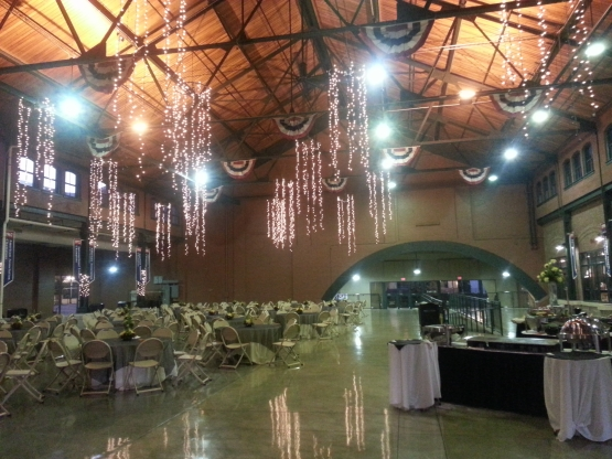 A large indoor function space created from an old railroad station