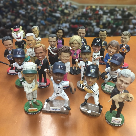Bobblehead giveaways are a staple at ValleyCats games.
