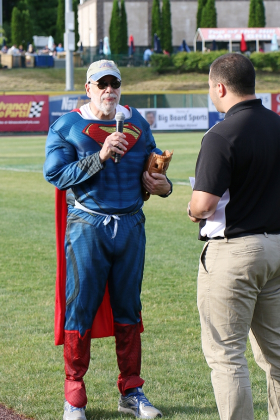 Fred Erlich of Living Resources detailed the services the organization provides in a pregame interview with ValleyCats broadcaster Peter Fiorentino.