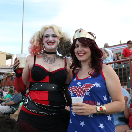 "Harley Quinn and Wonder Woman made their way to ""The Joe!"" for Superheroes Night!"