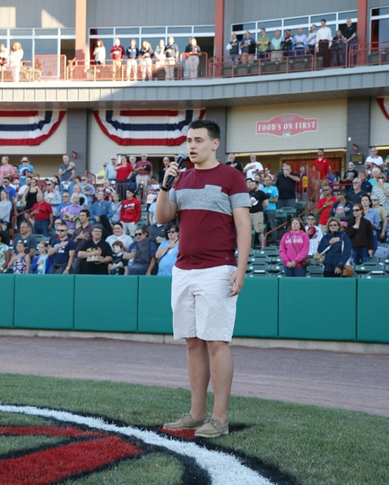 Nick Contois delivered a great performance during the national anthem.