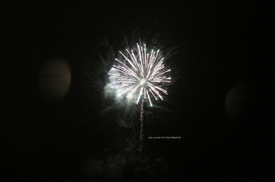 The postgame fireworks show presented by Market 32 sent fans home happy even though the 'Cats lost the game.