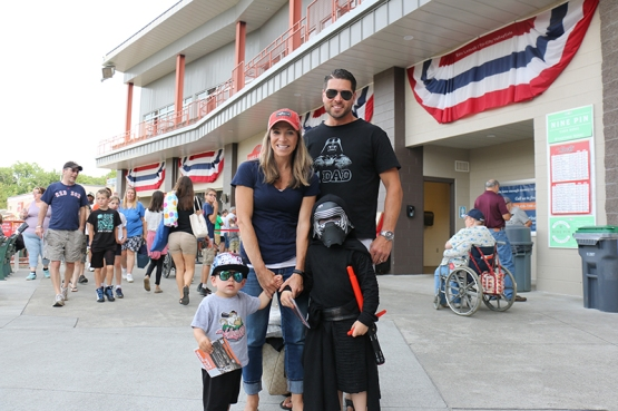 Many fans dressed in their best Star Wars gear, including this family with Kylo Ren!