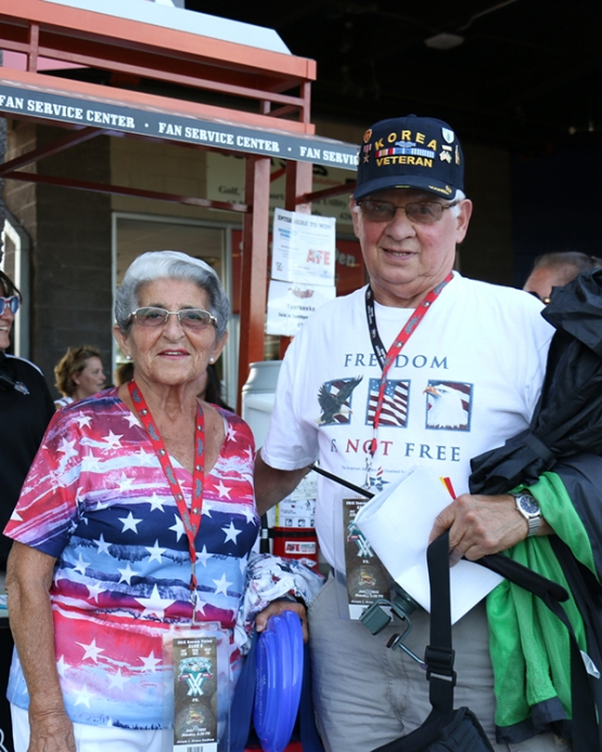 One of the ValleyCats patriotic season ticket holder couples!