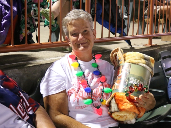 Barb Bowers, a ValleyCats season ticket holder, was our festive fan of the night!
