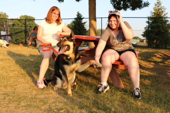 Some ValleyCats fans enjoying the picnic area with their pooch!