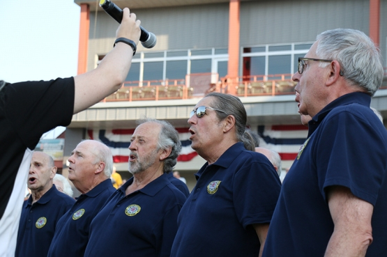 The Mehendalson gentlemen sang a great rendition of the national anthem.