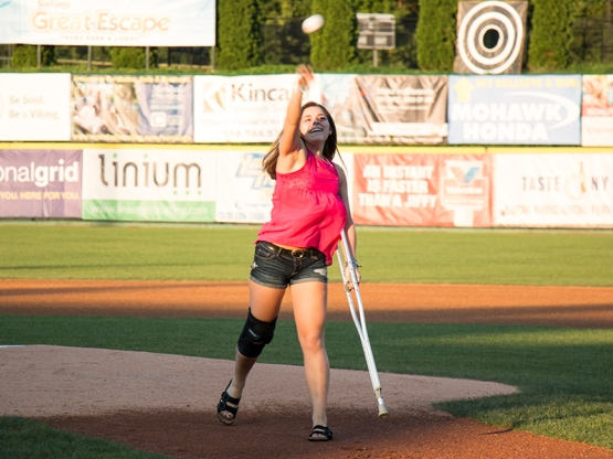 8 26 16 SADIE DUNNE FIRST PITCH